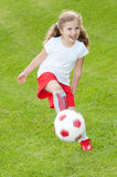 Little soccer player Stock Photos
