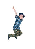 Little soldier jump Royalty Free Stock Image