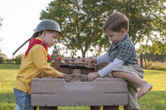 boys playing Royalty Free Stock Photography