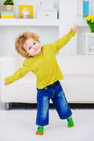 Little son playing at home royalty free stock images
