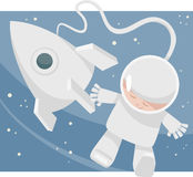 Little spaceman cartoon illustration Stock Image