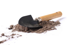 Little Spade Shovel Isolated Over White. Royalty Free Stock Photography
