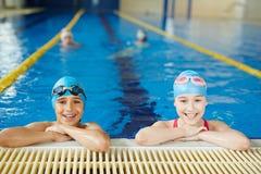 Little Sportsmen in Pool Stock Image
