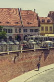 Little Square, Sibiu, Romania Royalty Free Stock Images