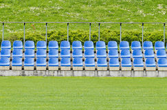 Little stand on a football ground Royalty Free Stock Photography