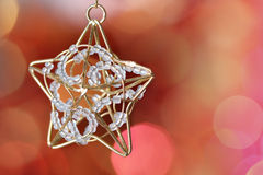 Little star decoration against blurred background Royalty Free Stock Image