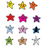Little stars. 12 cute little colorful stars in vector vector illustration