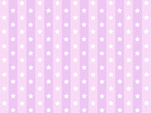 Little Stars with pink striped line pattern Stock Image