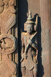 Little statuette. Shwe Inbin Abbey. Stock Photography