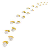 Little steps made of silver and golden coins Stock Photography