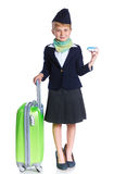 Little stewardess Royalty Free Stock Photography