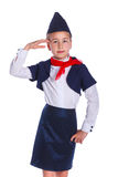 Little stewardess Royalty Free Stock Images