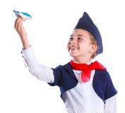 Little stewardess Stock Photos