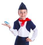 Little stewardess Stock Images