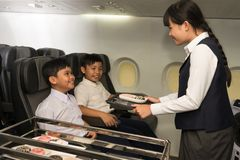 Little stewardess Stock Image