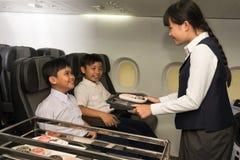 Little stewardess Stock Image