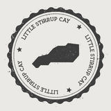 Little Stirrup Cay sticker. Royalty Free Stock Images