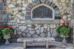The Little Stone Church. Mackinaw Island, Michigan, USA - July 5, 2015. The Little Stone Church on Mackinaw Island was dedicated in 1904. The church was built Royalty Free Stock Images