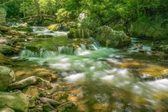 Little Stony Creek, Gile County, Virginia, USA. Little Stony Creek located in the Jefferson National Forest, Giles County, Virginia, USA royalty free stock photo