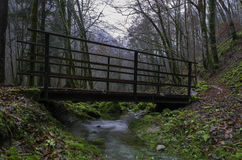 Little stream Bridge Stock Photos