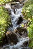 Water flowing downwards Royalty Free Stock Photo