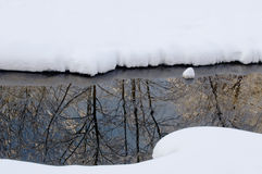 Little stream in winter Royalty Free Stock Image