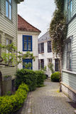 Little street in Bergen Royalty Free Stock Photos