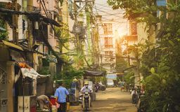 Little street of Ho Chi Minh city, Vietnam Stock Images