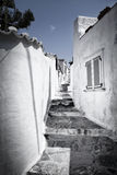 Little street on Hydra Island, Greece. Little street with white walls on Hydra Island, Greece royalty free stock photo