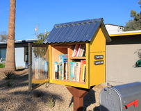 Little Street Library in Tempe, Arizona Royalty Free Stock Image
