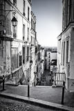 Little street in Montmartre. (Paris, France Royalty Free Stock Photography