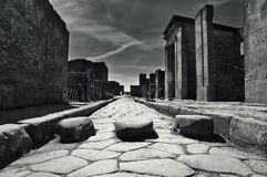 Little street in Pompeii, Italy. Little street in the antique site of Pompeii, Italy stock image