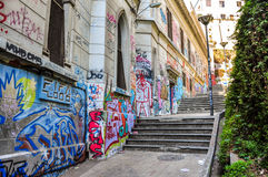 Little streets of Valparaiso, Chile Royalty Free Stock Images