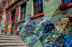 Little streets of Valparaiso, Chile Stock Images