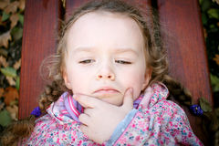 Little stubborn girl Royalty Free Stock Photography