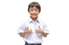 Little student boy in uniform Stock Image