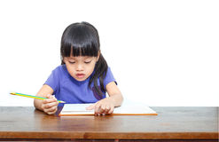 Little student girl Stock Photos