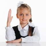 Little student girl Royalty Free Stock Image