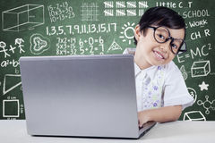 Little Student Smiling at Camera Royalty Free Stock Image
