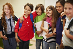 Little students in the classroom Stock Images