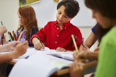 Little students in the classroom Royalty Free Stock Photography