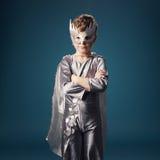 Little super hero portrait Stock Photo