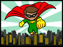 Little superhero flying Stock Image