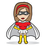 Little superhero girl Royalty Free Stock Photo