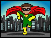 Little superhero running Royalty Free Stock Photo