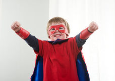 Little superhero with super powers Royalty Free Stock Image