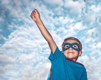 Little superman stock photo
