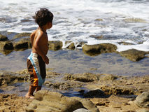 Little surfer Stock Photography