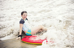 Little Surfer Girl Stock Images