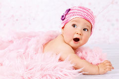 Little surprised baby Royalty Free Stock Image